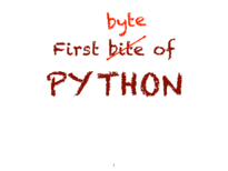 first byte of Python